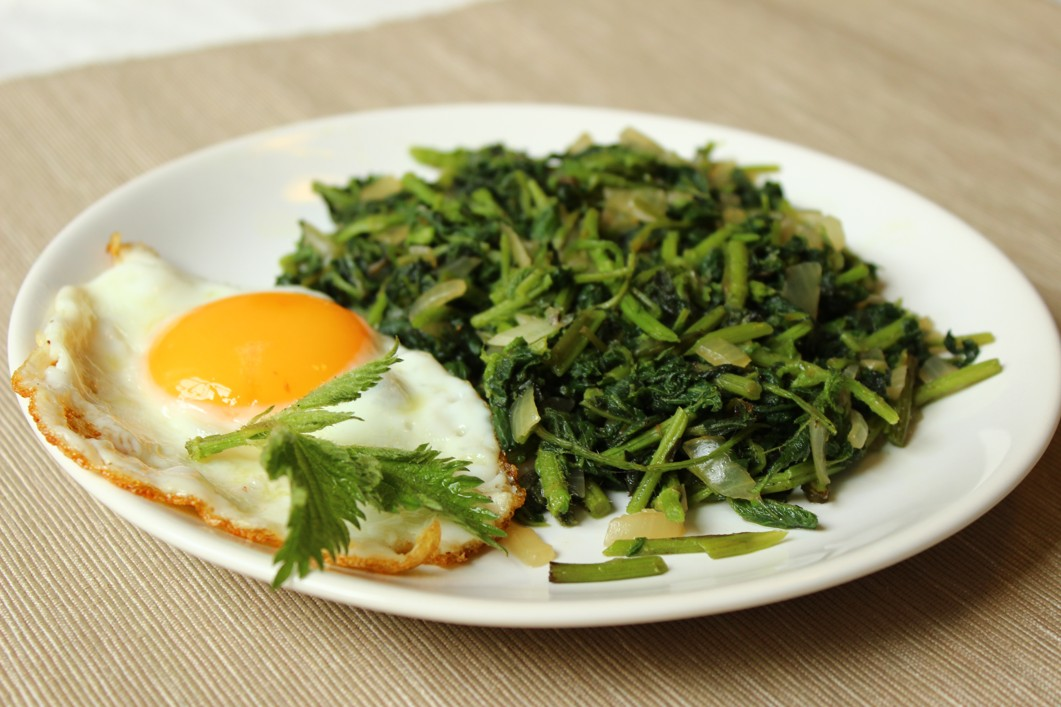 Salát z kopřiv s vejcem, Zdroj: NATURHOUSE